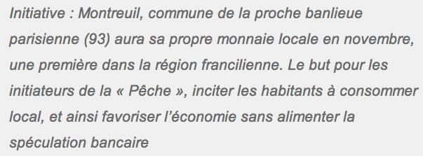 Monnaie locale : à Montreuil on va pouvoir payer en pêches plutôt qu'en euros