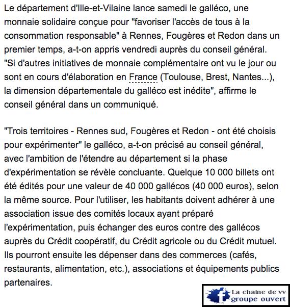 Le galléco, première monnaie solidaire de France
